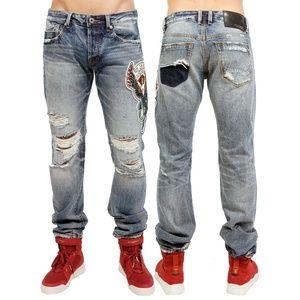 Japanese Selvedge Greaser Jeans Baylor Embroidered